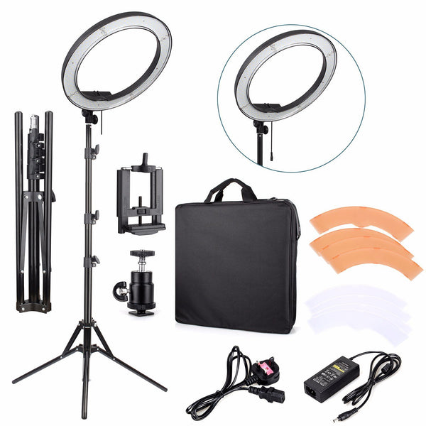 "18 inch LED Ring Light Kit ,LED 18"" Stepless Adjustable Ring Light Camera Photo/Video Portrait photography 5500K Dimmable - zorrlla"