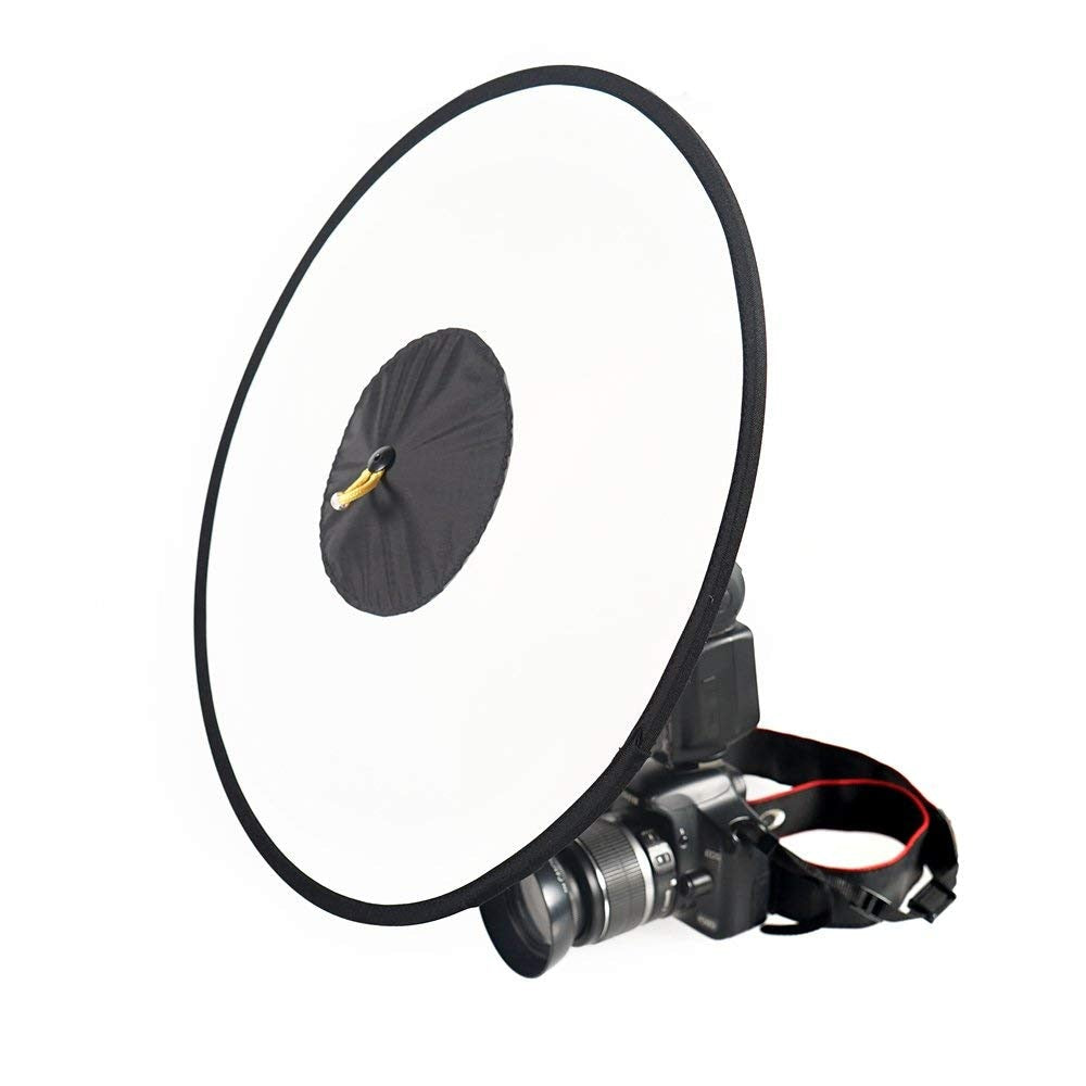 18inch(45cm) Beauty Dish Collapsible Softbox Round Ring Dish Diffuser for Speedlite - zorrlla