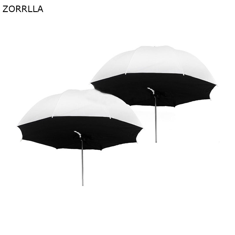 "2 pcs 84 cm / 33 ""Rainfall softbox Umbrella Translucent photo studio Lighting photo light kit - zorrlla"