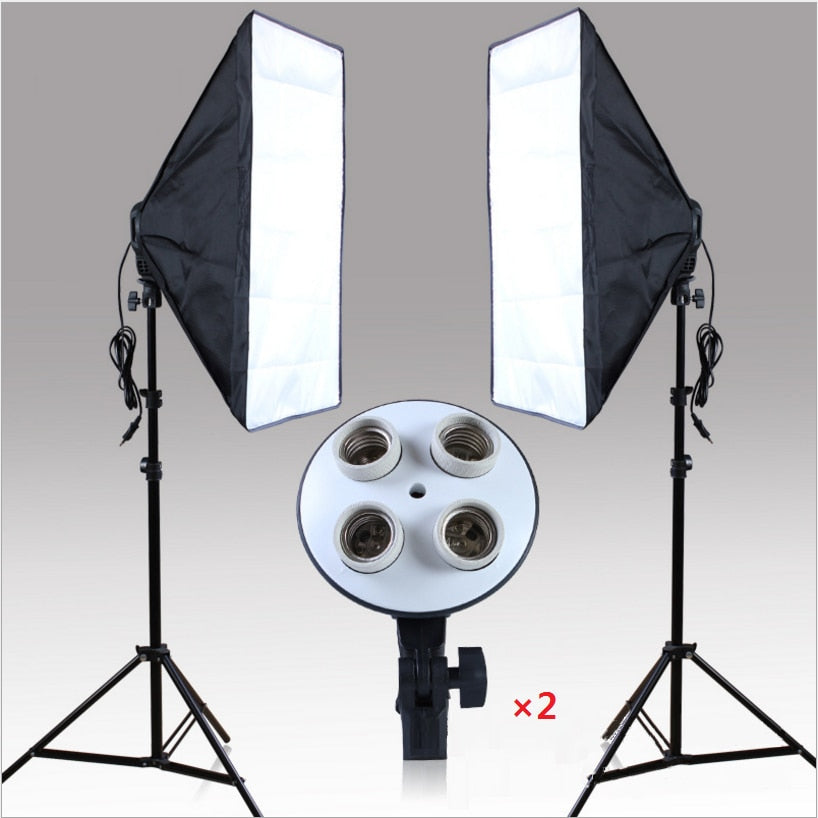 "20"" X 28"" Softbox Photography Light Kit Photo Video Equipment Soft Studio Continuous Lighting Kit(Does Not Contain Bulbs) - zorrlla"
