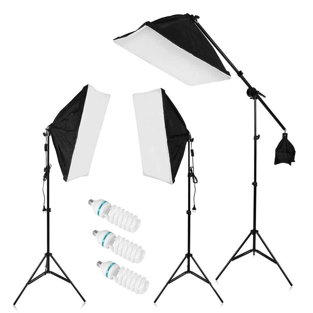 "2000W Photography Studio LED Lighting Kit 20x25"" Auto Pop-up Soft Box with 80"" Light Stand and 135W LED Lamp - zorrlla"