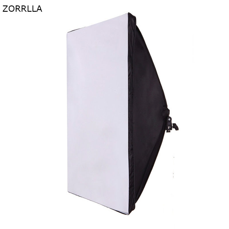 50*70CM Softbox Lighting Photography Studio Lights Continuous Lighting Kit for Portraits and Video Shooting With Carry bag - zorrlla