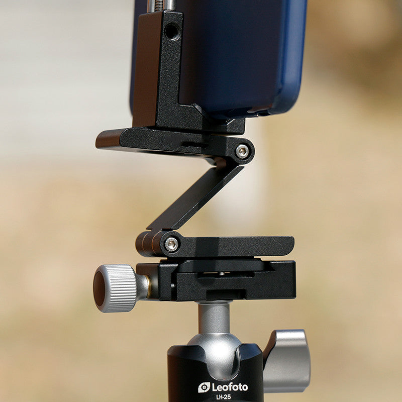 Zorrlla Mini Aluminum Folding Z Tilt Ball Head Quick Release Plate Stand Mount Multi-Degree for iPhone Photography Video Shooting - zorrlla