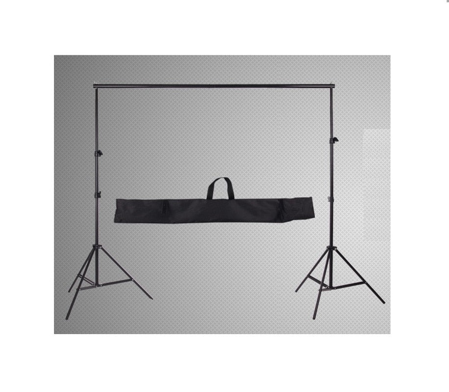 6.56ft X 6.56ft / 2M X2M Background Backdrop Support System Kit Adjustable Stand & Crossbar for Photo and Video with Bag - zorrlla