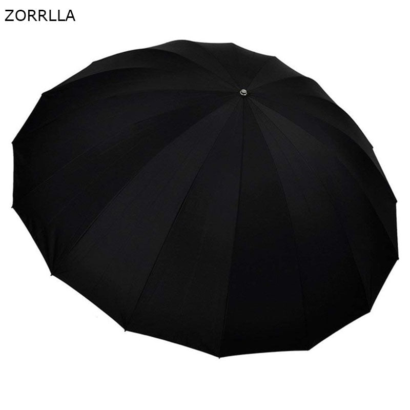 "72""/185cm Silver with Black Cover Reflective Parabolic Umbrella 16 Fiberglass Rib 7mm Shaft, includes Portable Carrying Bag - zorrlla"