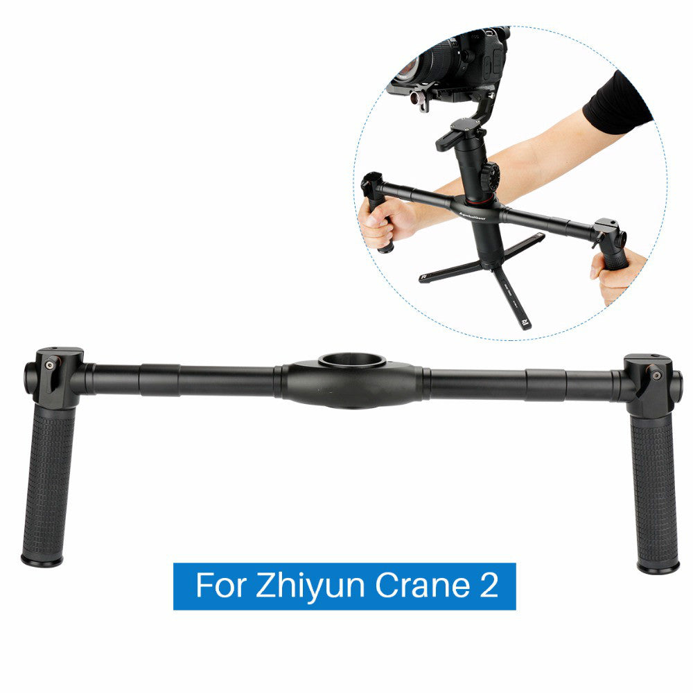 DH02 Dual Handle Grip for Zhiyun Crane 2 Dual Handheld Extended Handle handgrips for Zhiyun Crane 2 3-Axis Gimbal Stabilizer - zorrlla