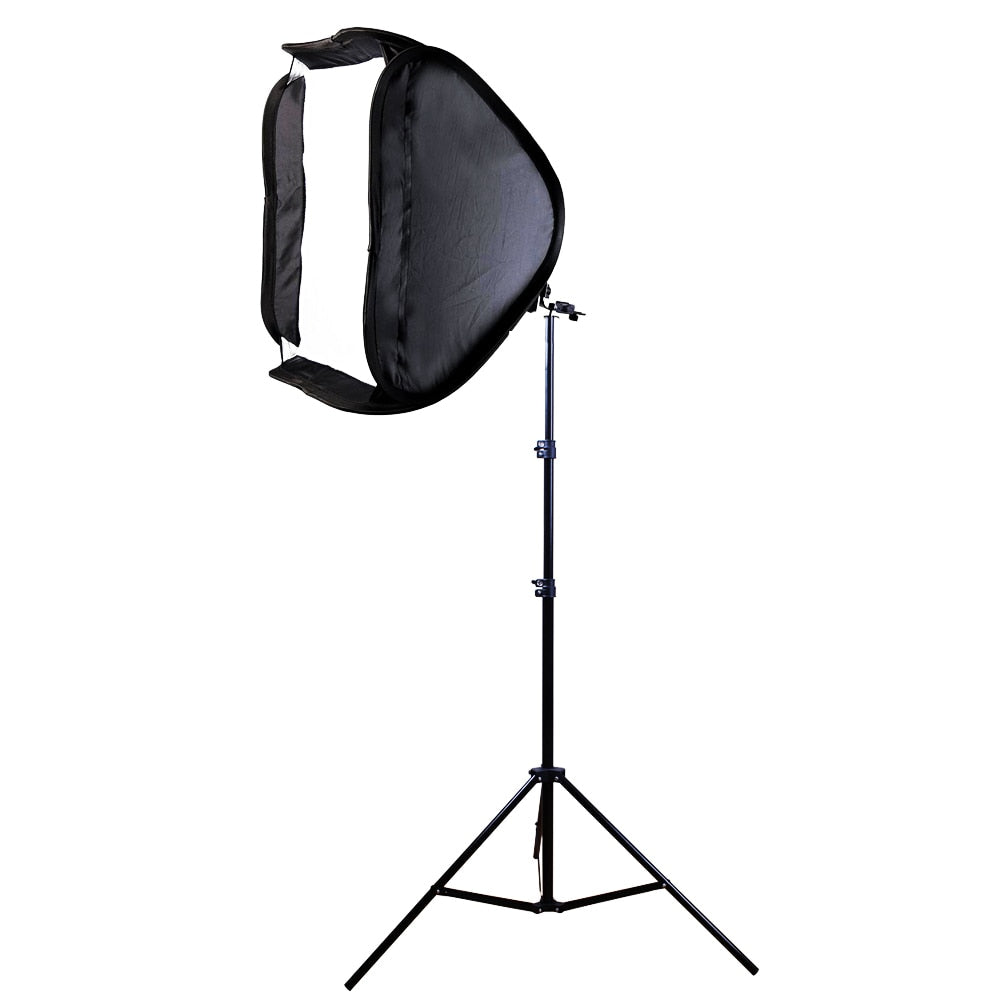 80x80cm Softbox Bag Kit for Camera Studio Flash fit Bowens Elinchrom Mount With Stand - zorrlla