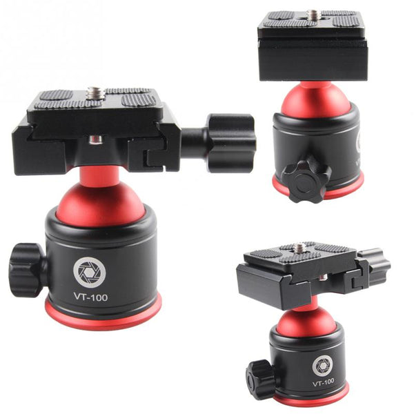 Aircraft Aluminum Ergonomic Design Ball Head Metal 360 Degrees Rotation Tripod Ballhead Ball Head Camera Tripod Adapter - zorrlla