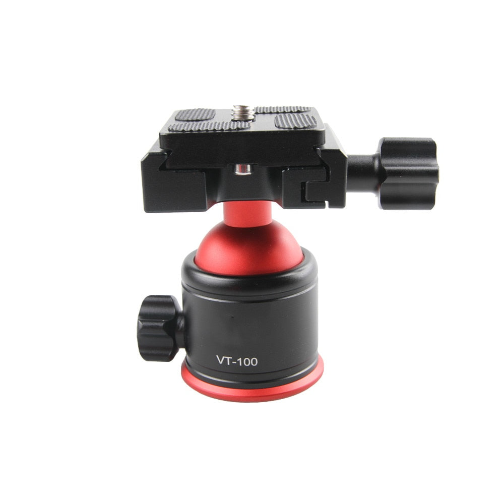 Camera Video Tripod Ball Head 360 Degree Rotating Panoramic Ballhead with 1/4 inch Quick Shoe Plate and Bubble Level - zorrlla