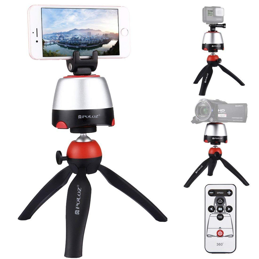 Electronic Tripod 360 Degree Rotating Panoramic Tripod Head With Remote Controller For phone Smartphone DSLR Cameras - zorrlla