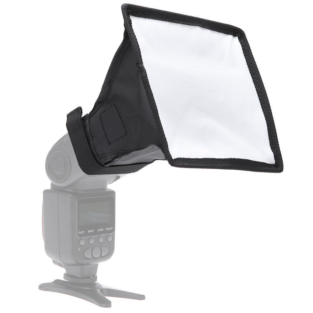 "Flash Diffuser Light Softbox 6x7"" (Universal Collapsible with Storage Pouch) for Speedlight - zorrlla"