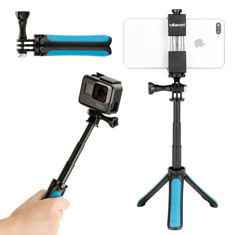 For Gopro Shorty Handgrip Extension Pole Extendable Monopod Tripod Selfie Stick for iPhone Gopro Hero 7 6 5 Xiaomi YI 4k EKEN H9 - zorrlla