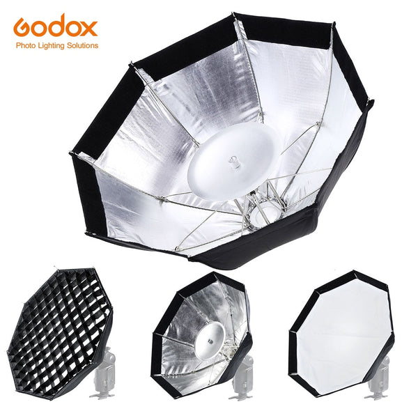 Zorrlla AD-S7 Multifunctional Soft Box Octagonal Honeycomb Grid Umbrella Softbox for WITSTRO Flash Speedlite AD200 AD180 AD360II - zorrlla