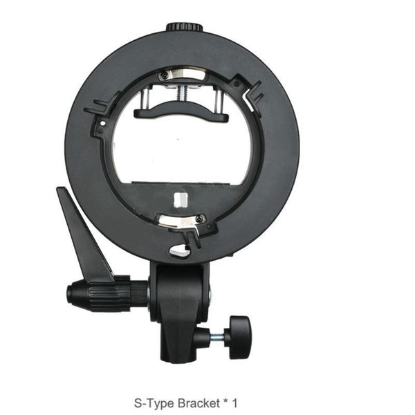 Zorrlla S-type Bracket Bowens Mount Holder for Speedlite Flash Snoot Softbox Honeycomb - zorrlla