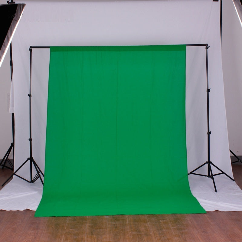 Green Screen Cotton Background 3x3M / 10x10ft Studio Backdrop Thick Opaque Background Sheet for Portrait Photo Photography - zorrlla
