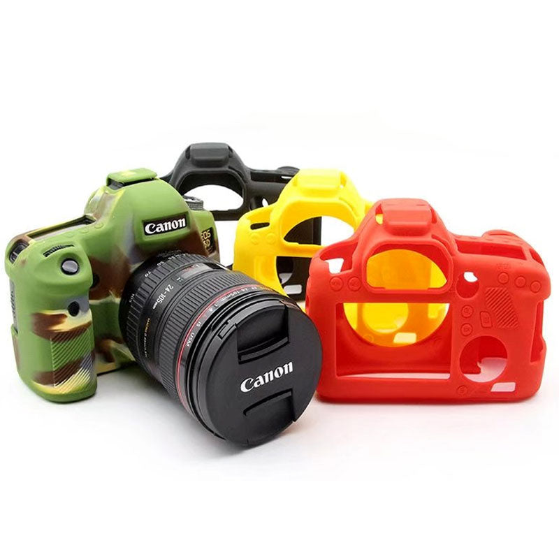 Silicone Camera Case Full Protective Cover Skin Rubber Housing for Canon 80D Green