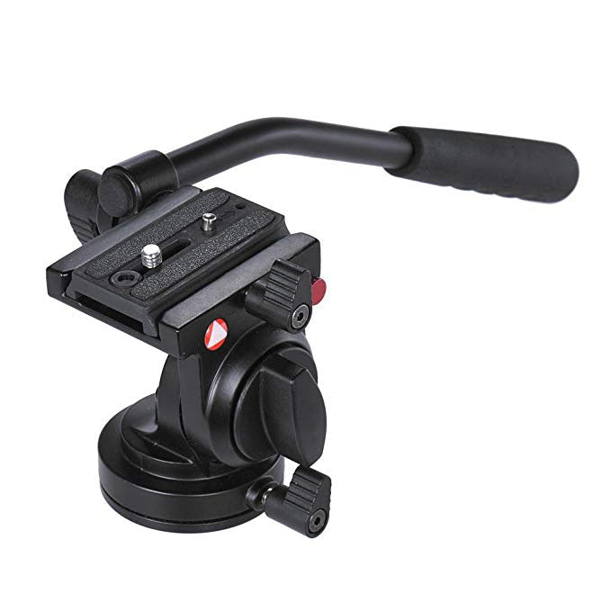 KH-6750 Fluid Drag Hydraulic Ball Head Photography Video Tripod Head with Handgrip for Canon Nikon DSLR Cameras Load up to 5kg - zorrlla