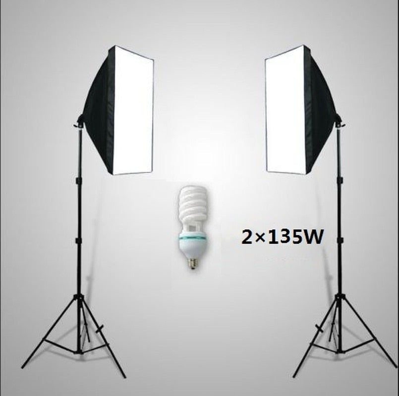 Lighting Kit Softbox Photo Studio Photography Soft Box Light Stand - zorrlla