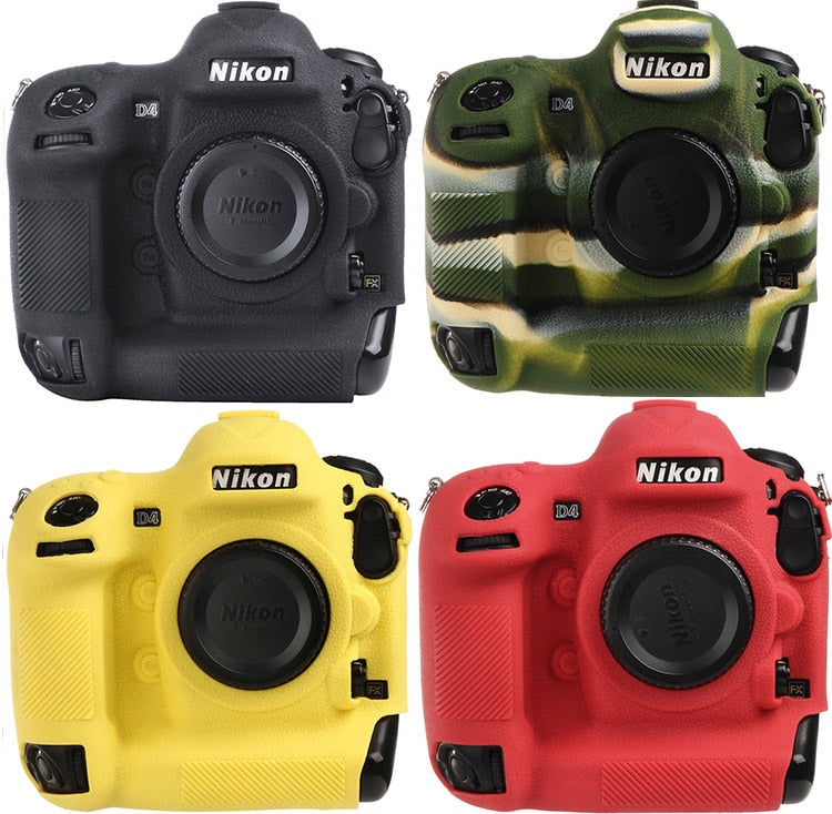 Lightweight Camera Bag Case Protective Cover for NIKON D4 D4S Black Camouflage yellow red colour - zorrlla