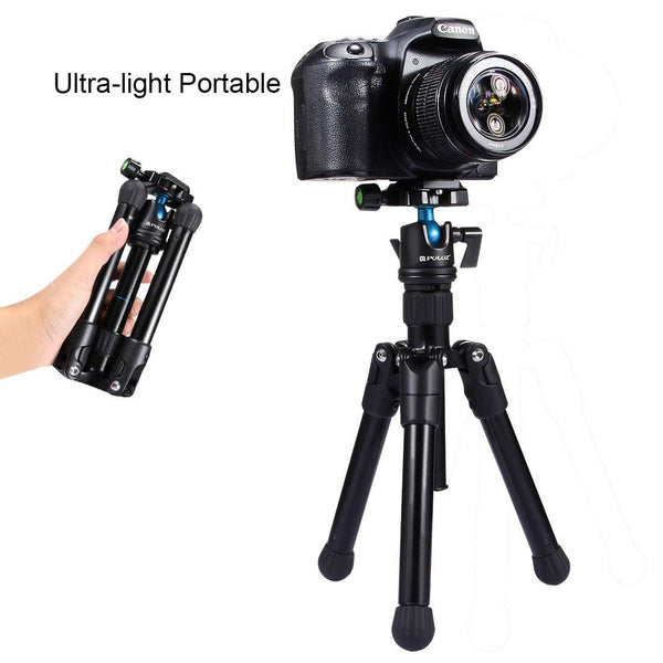Microspur Tripod Professcial Universal Pocket Mini Portable Lightweight Magnesium Alloy Tripod Mount with 360 Degree Ball Head - zorrlla