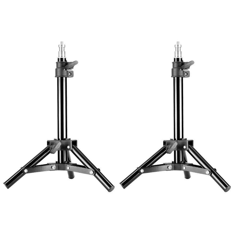 "Mini Set of Two Aluminum Photography Back Light Stands with 30""/75cm Max Height for Relfectors, Softboxes, Lights, Umbrellas - zorrlla"