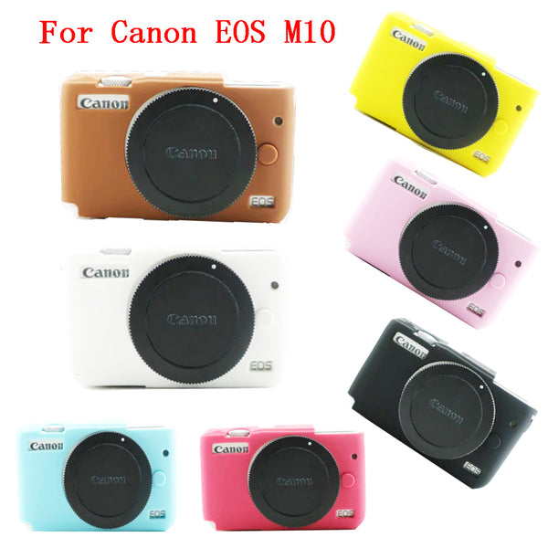 Nice Soft Camera bag Silicone Case For Canon EOS M10 EOSM10 EOSM 10 Camera Rubber Protector Body Cover Case Skin - zorrlla