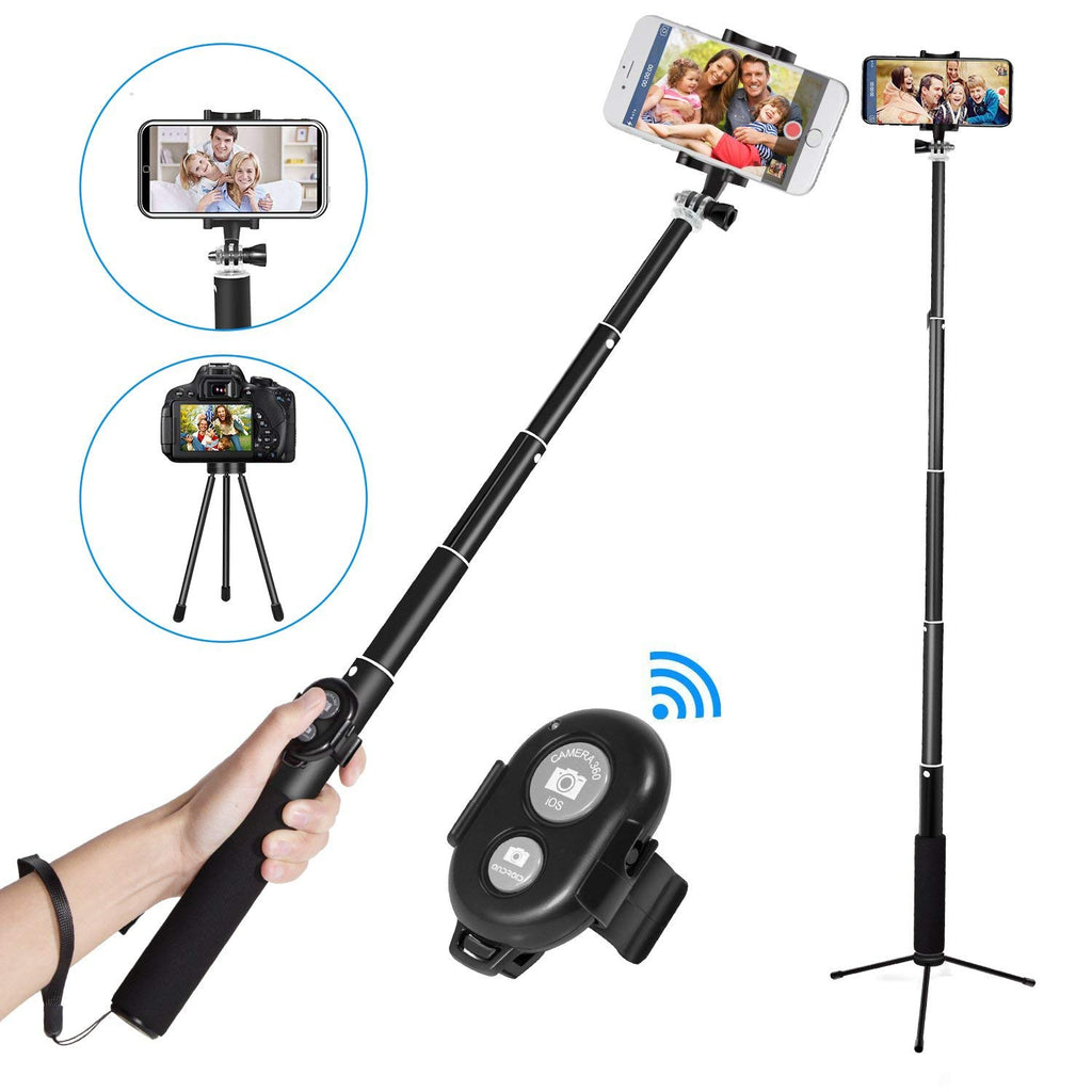 Phone Tripod Selfie Stick For iPhone Android For Samsung Xiaomi Huawei Remote Handheld Bluetooth Foldable Selfie stick - zorrlla