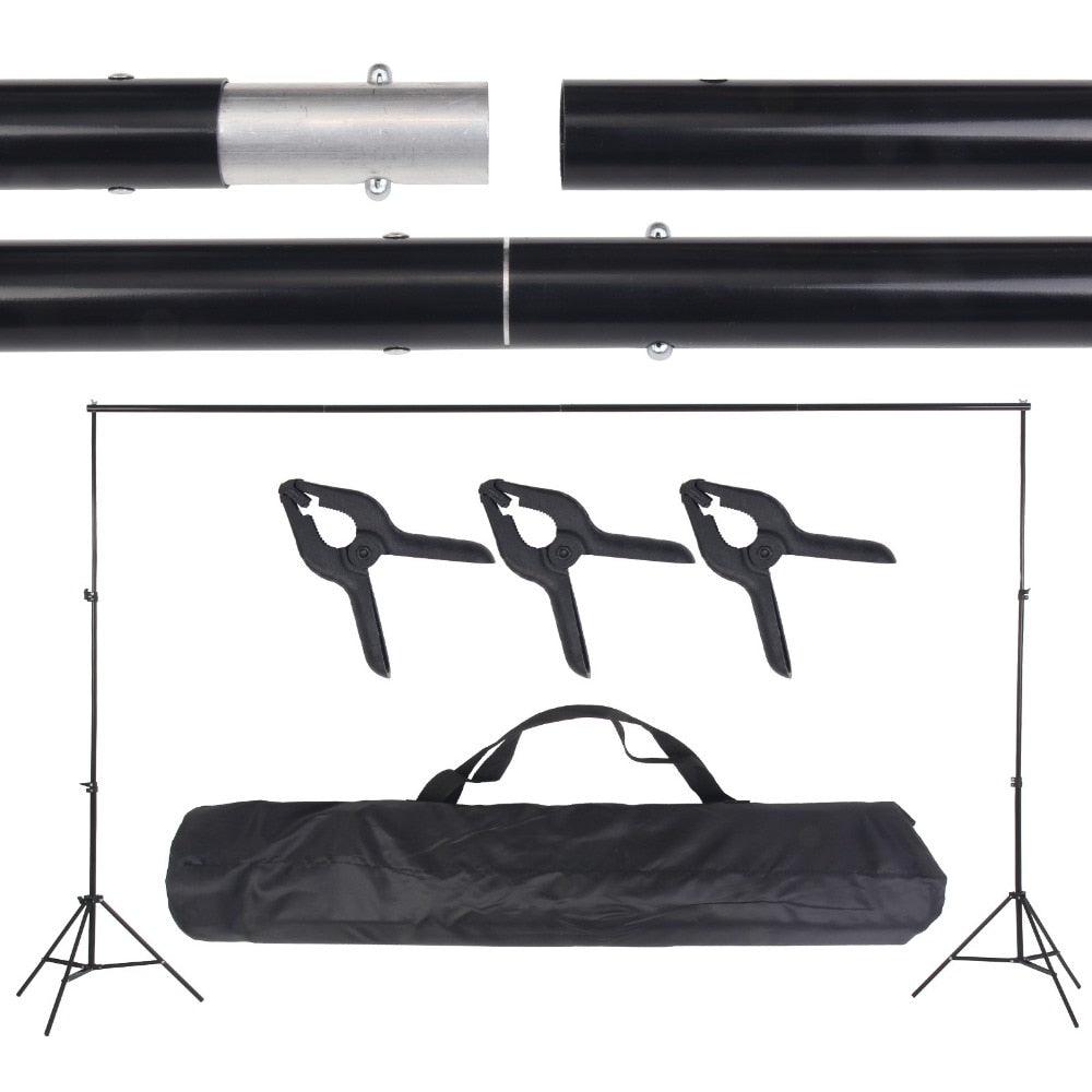 Photo Video Studio 10Ft Adjustable Background Stand Backdrop Support System Kit with Carry Bag - zorrlla