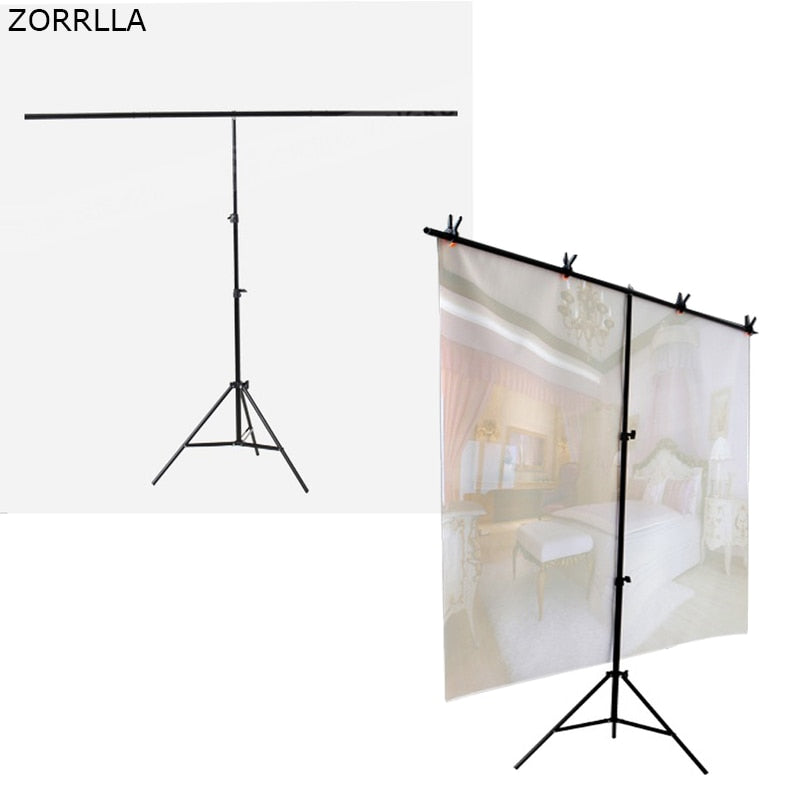 Portable T-shape Background Backdrop Stand Kit - zorrlla