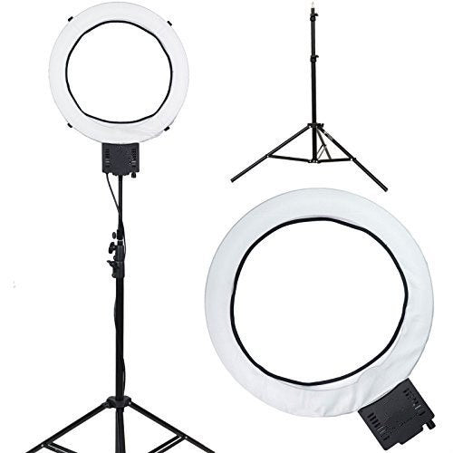 "Ring Light Super Nova 18"" Dimmable Photo/Video Light with 6' Light Stand - zorrlla"
