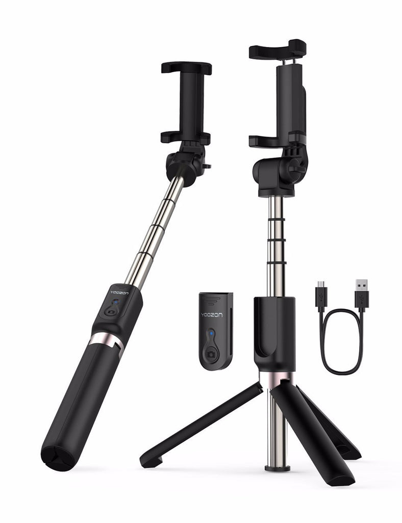 Selfie Stick Bluetooth, Extendable Selfie Stick with Wireless Remote and Tripod Stand Selfie Stick - zorrlla
