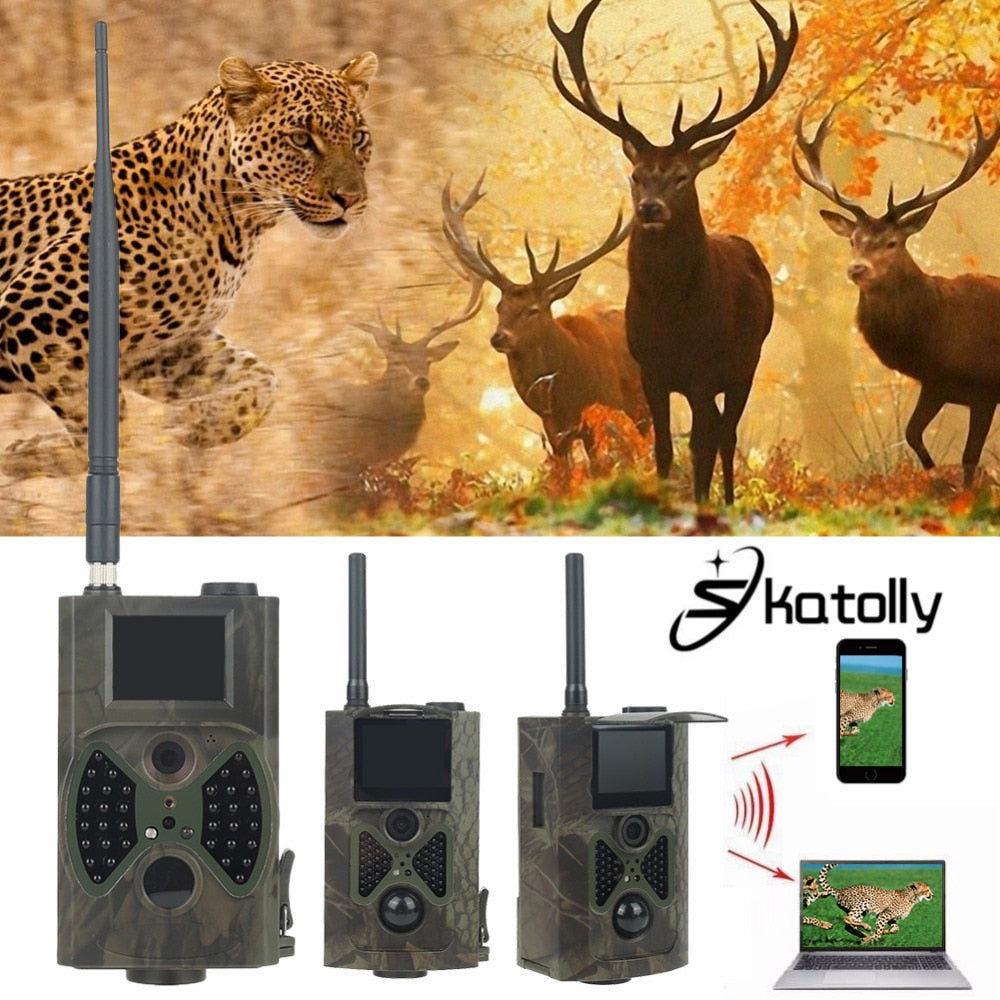 HC300M HD Hunting Trail Camera Scouting Infrared Video GPRS GSM 12MP - zorrlla