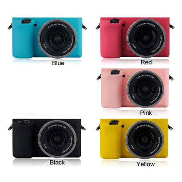 Soft Silicone Protective body Skin Case Bag Cover for Sony alpha A6000 16-50mm lens camera, 1PCS, 6 colors for choose - zorrlla