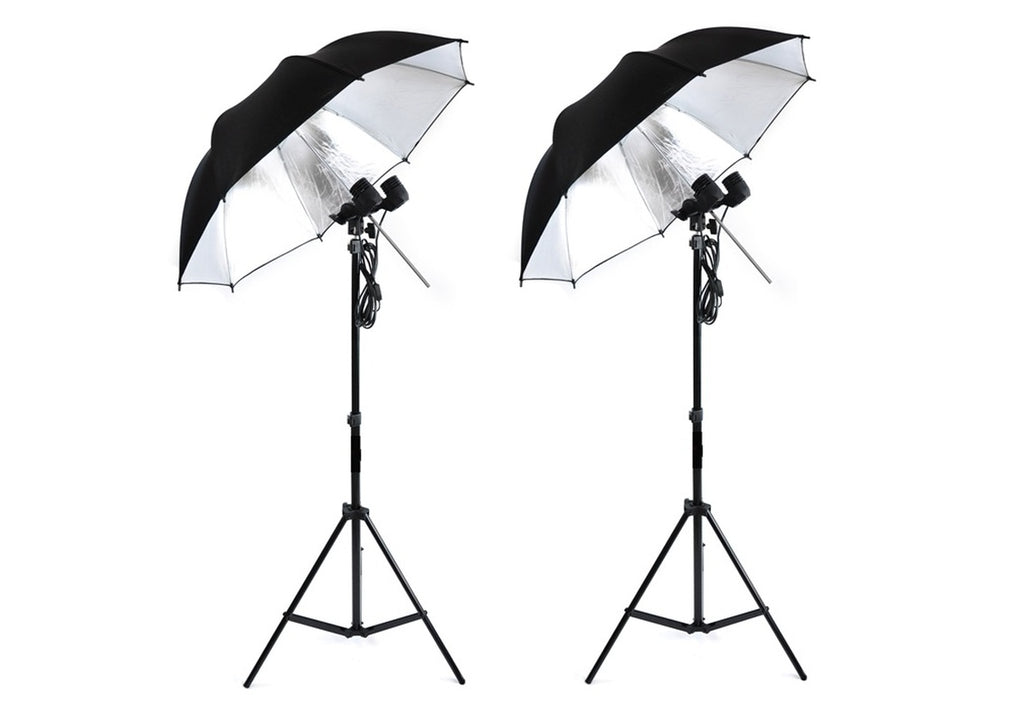 Standard Double Lamp Umbrella Photography Light * A Professional Photography Studio Light Kit Photographic Equipment Accessories - zorrlla