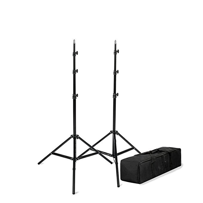 "StudioPRO - 2x 7'6"" Classic Light Stand Kit - [Classic][For Photo and Video][Includes Carrying Bag] - zorrlla"