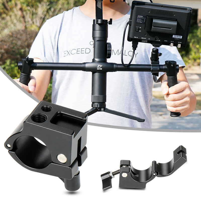 Ulanzi 22/25mm Rod Clamp Monitor Mount with Cold Shoe Mount for DJI Ronin-M Freefly MOVI Zhiyun Crane 2/V1/V2/Plus Gimbal Mount - zorrlla