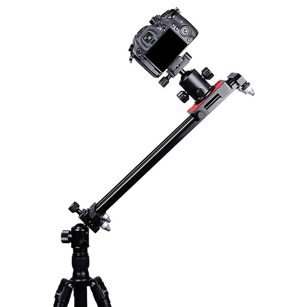 Zorrlla 40cm/15'' Phone Video Slider Dolly, Portable Compact Track Travel Slider Rail System Stabilizer for iPhone Samsung DSLR - zorrlla