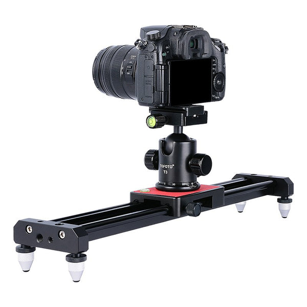 "Zorrlla Aluminum Tripod Head Ball Head with Quick Release Plate 1/4"" Screw for Track Dolly Slider Video Stabilizer Rail System - zorrlla"