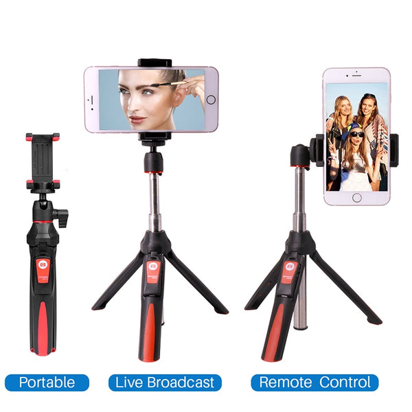 Zorrlla BENRO MK10 Selfie Stick Tripod Stand 4 in 1 Extendable Monopod Bluetooth Remote Phone Mount for iPhone X 8 Android Gopro - zorrlla
