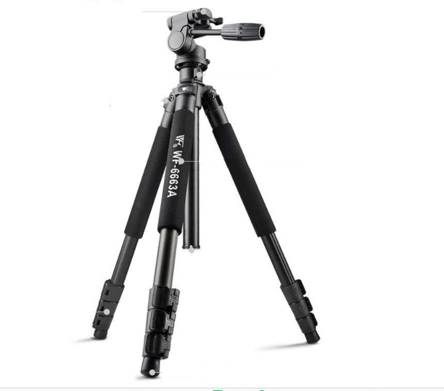 WF-6663A Professional Tripod Ball Head Camera Aluminum Tripods with Carrying Bag for SLR Digital Camera DV Camcorder - zorrlla
