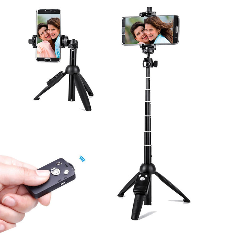 Zorrlla Handheld Extendable Tripod Monopod Camera Phone Selfie Stick with Bluetooth Remote Shutter Mobile Phone Stick - zorrlla