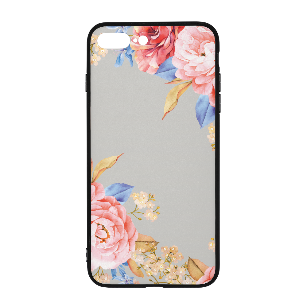 Grey Floral iPhone 8 Plus Case