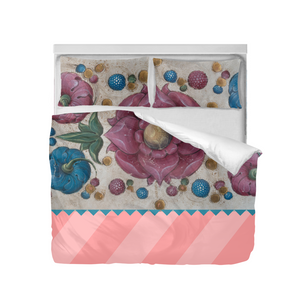 Stone flowers Duvet Cover Set (Queen)