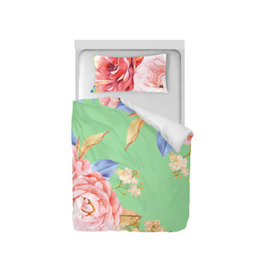 Minty Floral Duvet Cover Set (Twin)