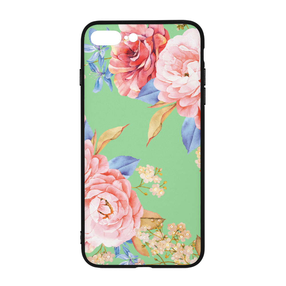 Minty Floral iPhone 8 Plus Case