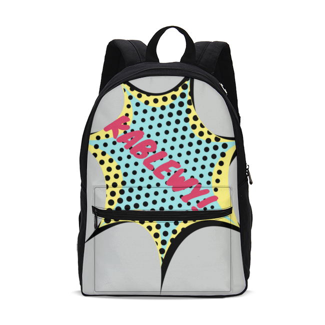 Comic Small Canvas Backpack