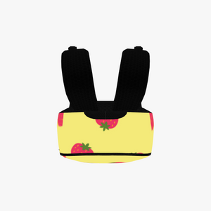 Yellow Strawberry Large Backpack