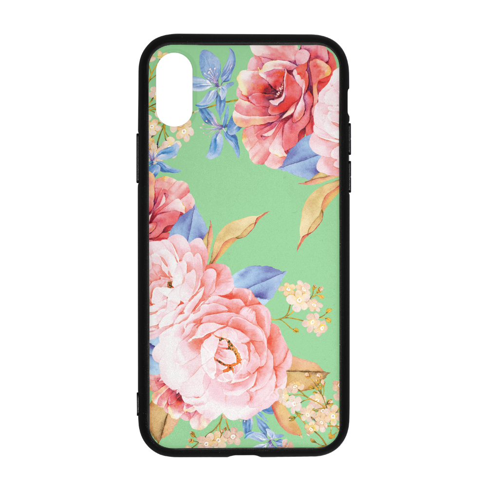 Minty Floral iPhone X Case
