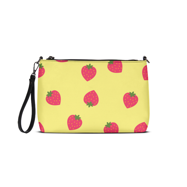 Yellow Strawberry Daily Zip Pouch