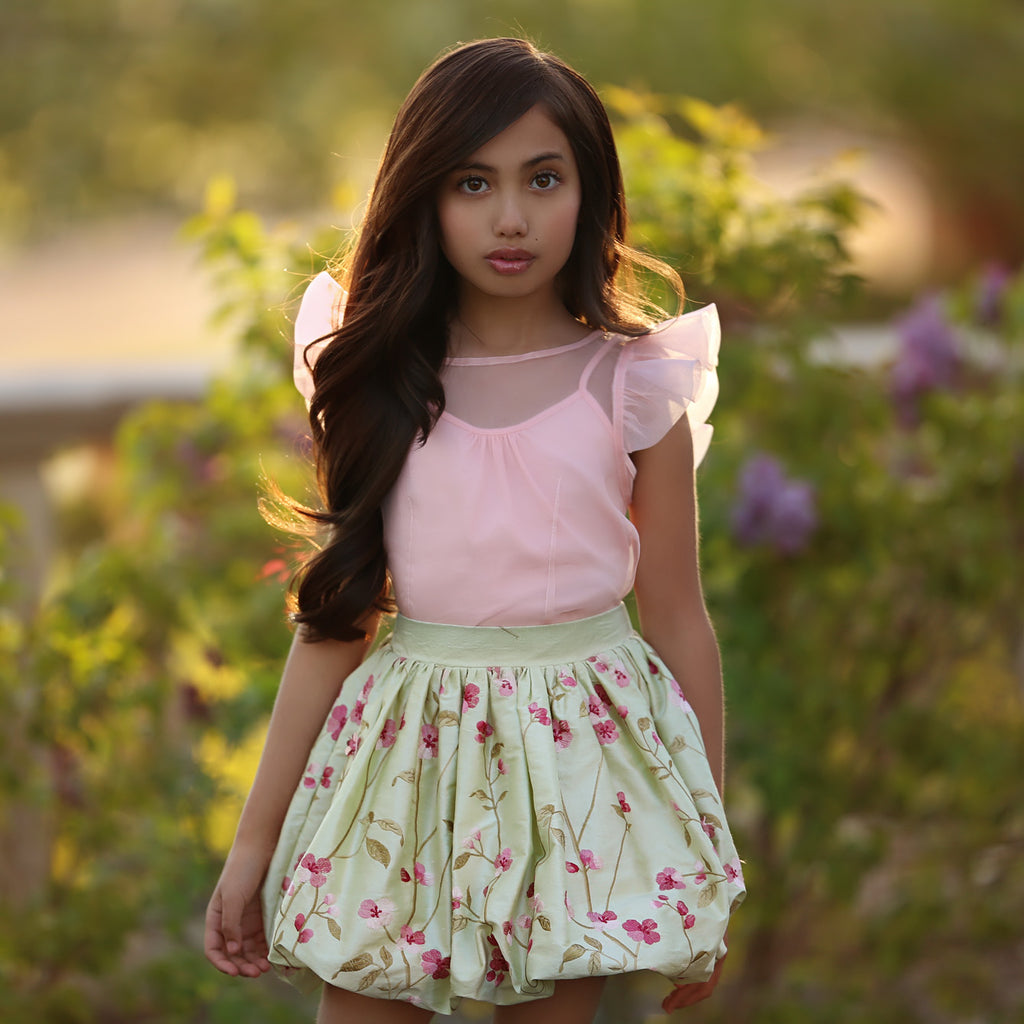 Cherry Blossom Bubble Skirt